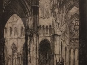 Rheims Cathedral, South Transept by Louis Orr