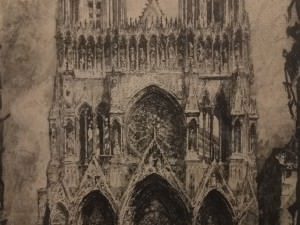 Rheims Cathedral, Facade by Louis Orr