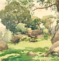Trees and Rocks by Harry De Maine (1880-1952)