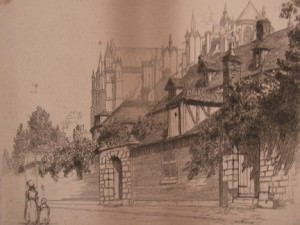 Rue de L'Eveche, Beauvais by George Aid