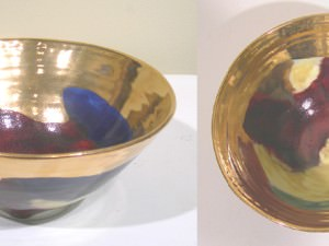 Small Celebration Bowl with Gold by Sally Bowen Prange