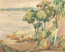 Overlooking Halfmoon Beach by Harry De Maine (1880-1952)