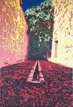 """Ex Convento de San Pablo Courtyard, Oaxaca, """"A View from the Bardo, #21"""" by Adam Sensel"""