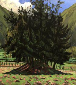 Ancient Tree Mound, San Pablo del Lago, Ecuador by Elsie Dinsmore Popkin (1937-2005)