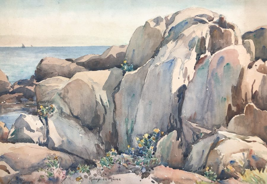Watercolor Paintings From The Estate Of Harry De Maine 1880