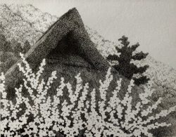 Thatched Roof and Blossoms by Ryohei Tanaka
