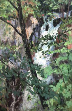 Kegon Falls, Kikko, Japan by Elsie Dinsmore Popkin (1937-2005)
