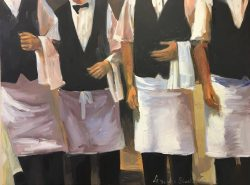 Four Waiters by Laura Lacambra Shubert