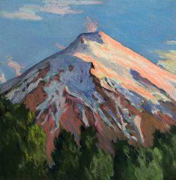 Villarrica Volcano, Sunset, Chile by Elsie Dinsmore Popkin (1937-2005)