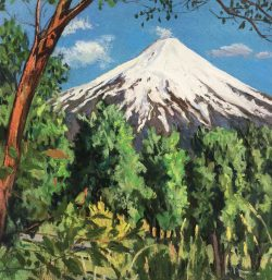 Villarica Volcano from Pucon, Chile by Elsie Dinsmore Popkin (1937-2005)