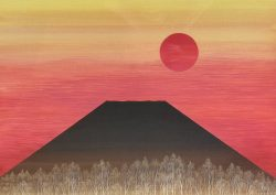 Mt. Fuji with Red Sun by Koji Terunuma (K. Teru)
