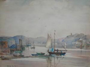 The Inner Harbor, Gloucester by Harry DeMaine