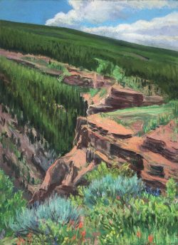 Vail Series-View Above Gilman by Elsie Dinsmore Popkin (1937-2005)