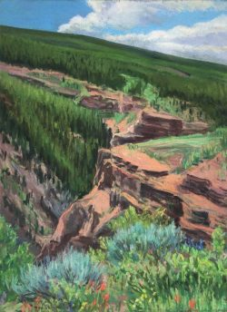 Vail Series, View Above Gilman by Elsie Dinsmore Popkin