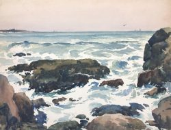 Rocky Shore by Harry De Maine (1880-1952)