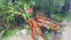 Organic Carrots by Linda Hutchinson