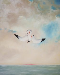 Falling Black-headed Gull by Michael Francis Reagan