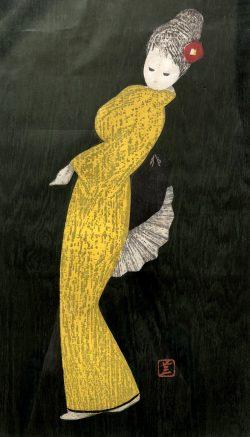 Dancing Figure in Yellow by Kaoru Kawano (1916-1965)