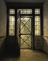 A Greek Revival Doorway at Twilight by Watson  Brown