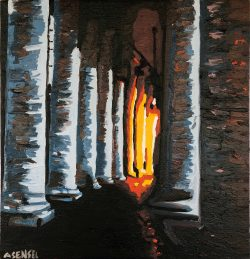 The glow off the columns Rome Italy by Adam Sensel