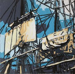 """Sails,  """"A View from the Bardo, #7"""" by Adam Sensel"""