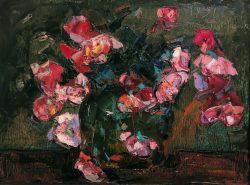 Fleurs Sur Fond Vert by Wladimir de (Wlodzimierz)  Terlikowski