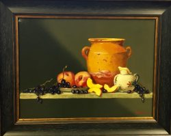 A French Theme with Grapes and Peaches by Bert Beirne