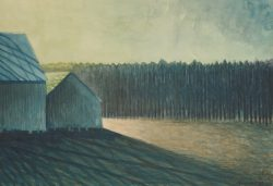 Barns at Sunset by Michael Francis Reagan