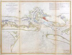 Beaufort Harbor, North Carolina by U.S. Coast Survey Chart