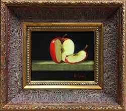 Red Apple Slice by Bert Beirne