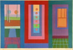 Door, Painting, Window by George Bireline (1923-2002)