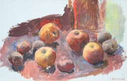 Potatoes and Apples by Sarah Blakeslee (1912-2005)