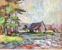 Pitt County Farmhouse by Sarah Blakeslee (1912-2005)