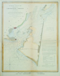 Cape Fear River and Inlet by U.S. Coast Survey Chart