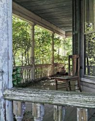 Chair on Abandoned Southern Veranda by Watson  Brown