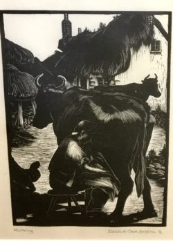 Milking by Clare Leighton (189801989)