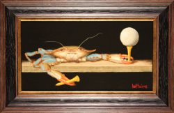 Crab with Golfball by Bert Beirne