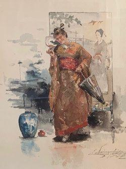 Woman in a Kimono by Elliott Daingerfield