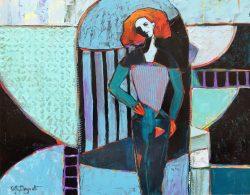 Figure in a Blue World by Kathy  Daywalt