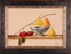 Dragon Bowl with Pears and Plums by Bert Beirne