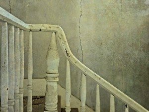 Abandoned Plantation House Staircase at Sunset by Watson Brown