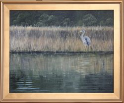 Egret at Lees Cut by David Addison