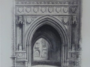 Entrance To Holder Hall by Louis Orr