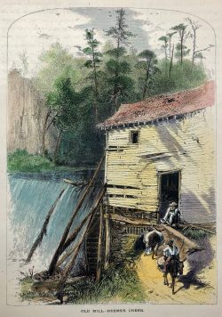 Old Mill - Reems's Creek by Harry Fenn (1845-1911)