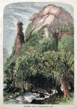 Chimney Rock, Hickory-Nut Gap by Harry Fenn (1845-1911)