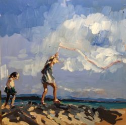 Flying Ribbon on the Beach by Laura Lacambra Shubert
