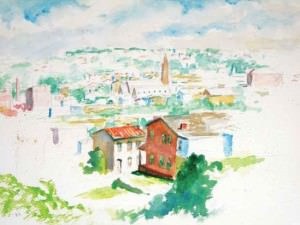 View of Manayunk from Price Street by Francis Speight