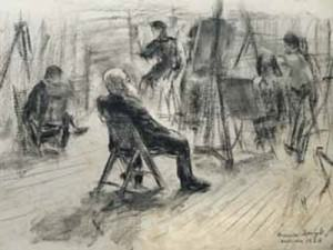 Evening Sketch Class by Francis Speight