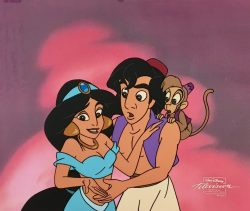 Aladdin, Jasmine and Abu by Walt Disney Studios