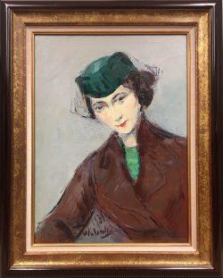 Lady in Green Hat by Wladimir  Terlikowski
